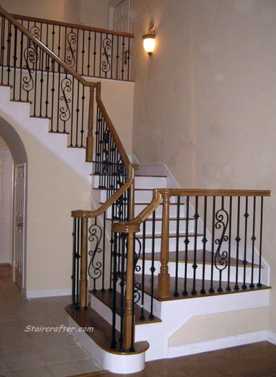 Staircase with Decorative Iron